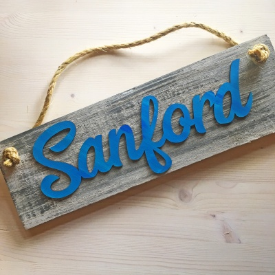 Sanford Script Sign<br />Rope Hanger